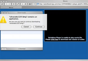 A trojan horse on the Mac posing as Quicktime codec